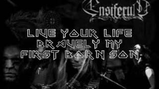 Smoking Ruins - Ensiferum (Lyrics on screen)
