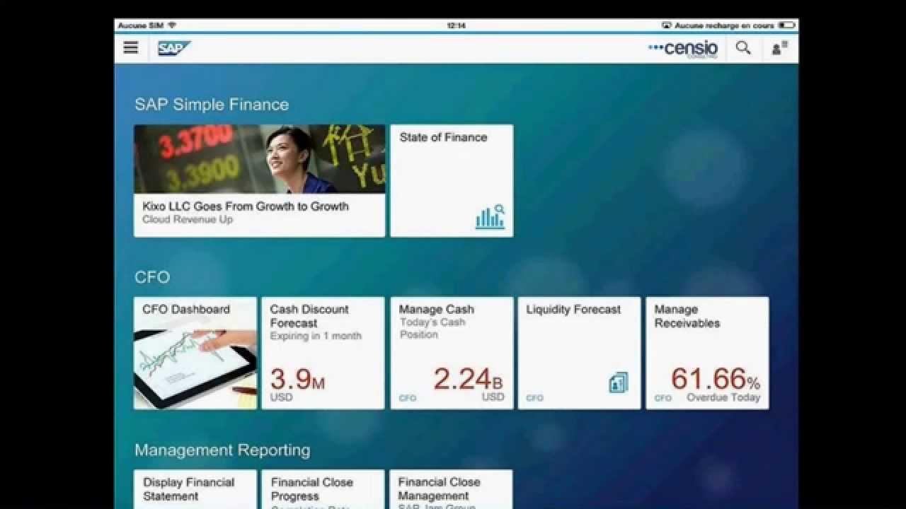SAP S/4HANA Finance : Demo SAP Simple Finance - YouTube