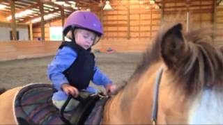 Toddler LOVES Ponies! Cutest Little Rider