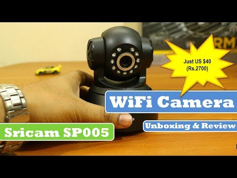 Sricam IP Wifi Camera | SP005 | Unboxing and Review (Black)