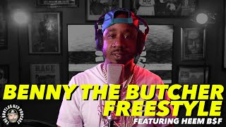 Benny The Butcher Freeṡtyles over his own beat w/ Heem B$F (Bootleg Kev Freestyle #1)