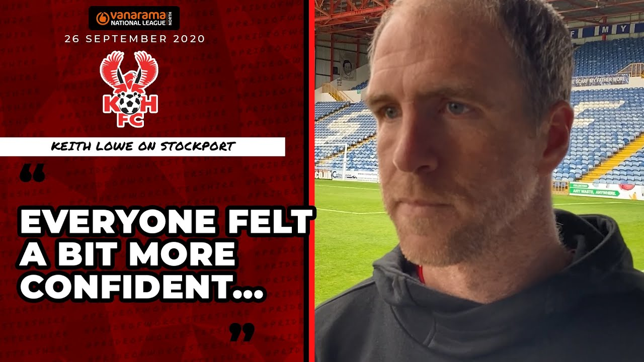 Keith Lowe 26/09/20: Stockport County 2-1 Harriers post-match