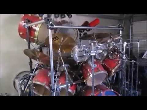 how to build your own drum rack using pipe diy do it yourself drums drummer drumming youtube. Black Bedroom Furniture Sets. Home Design Ideas