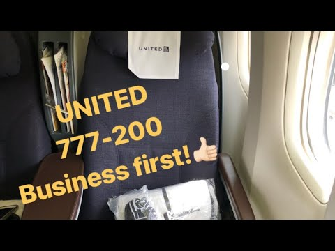 United Airlines 777-200: transcontinental business class-Better than expected!