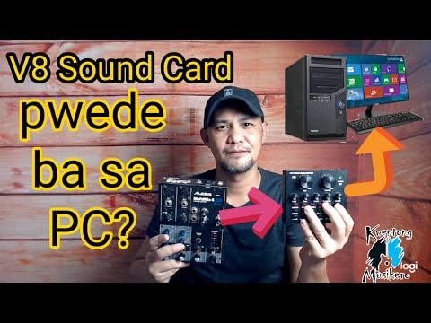 V8 Sound Card To PC And Audio Mixer Setup Tutorial