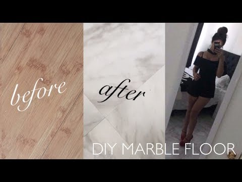 ♡ DIY || MARBLE FLOORS ♡ (Rent/Apartment safe)