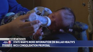 State requests more info from Ballad Health on plan to consolidate NICU services