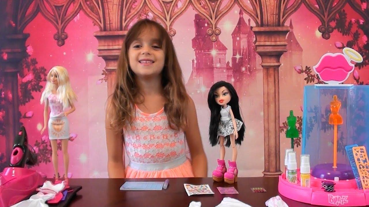 Barbie Fashion Studio Bratz Fashion Playset Design Dresses W Barbie And Bratz Doll Barbie Dress Youtube