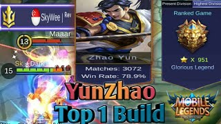 Mobile Legends: YunZhao Top 1 Build   Play YunZhao Like a Pro in Ranked Carry - Best Build