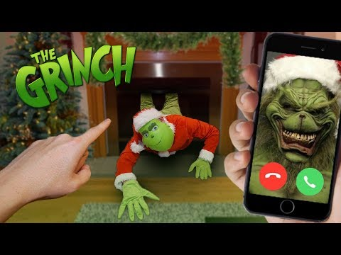 CALLING THE GRINCH ON FACETIME! (HE CAME DOWN MY CHIMNEY)