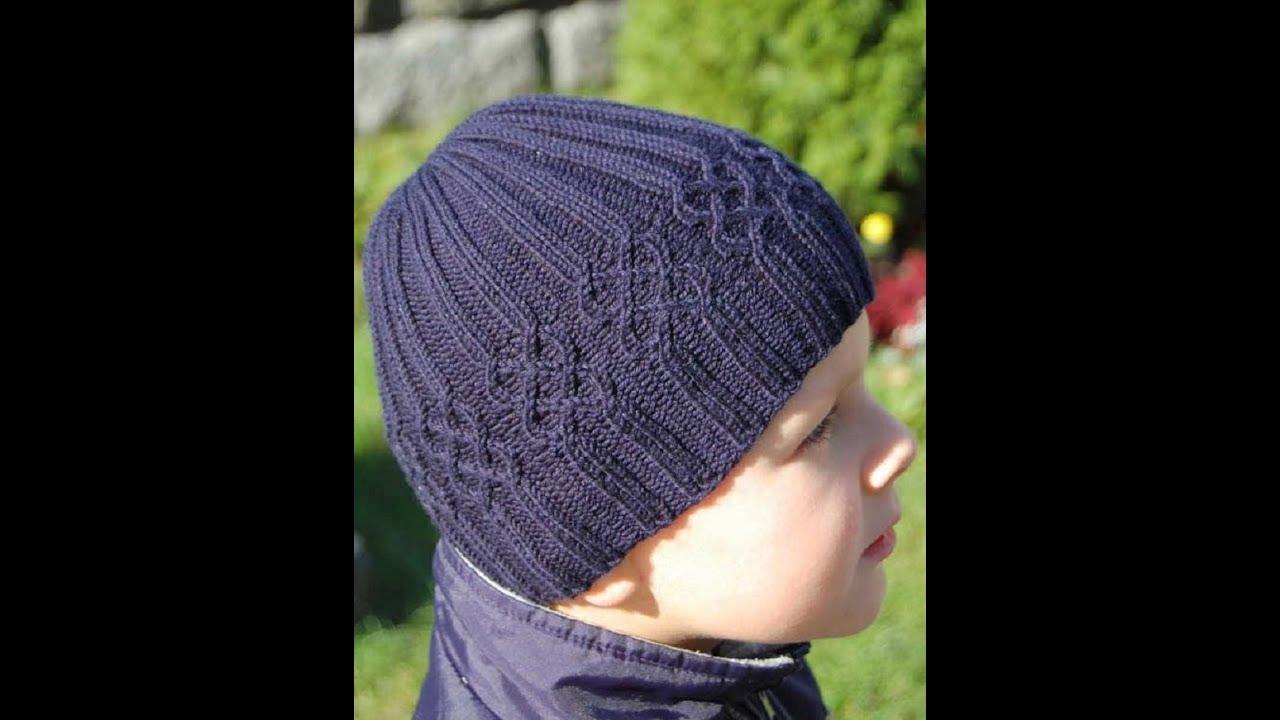 Вязание шапочек для мальчиков спицами с описанием и схемами 758