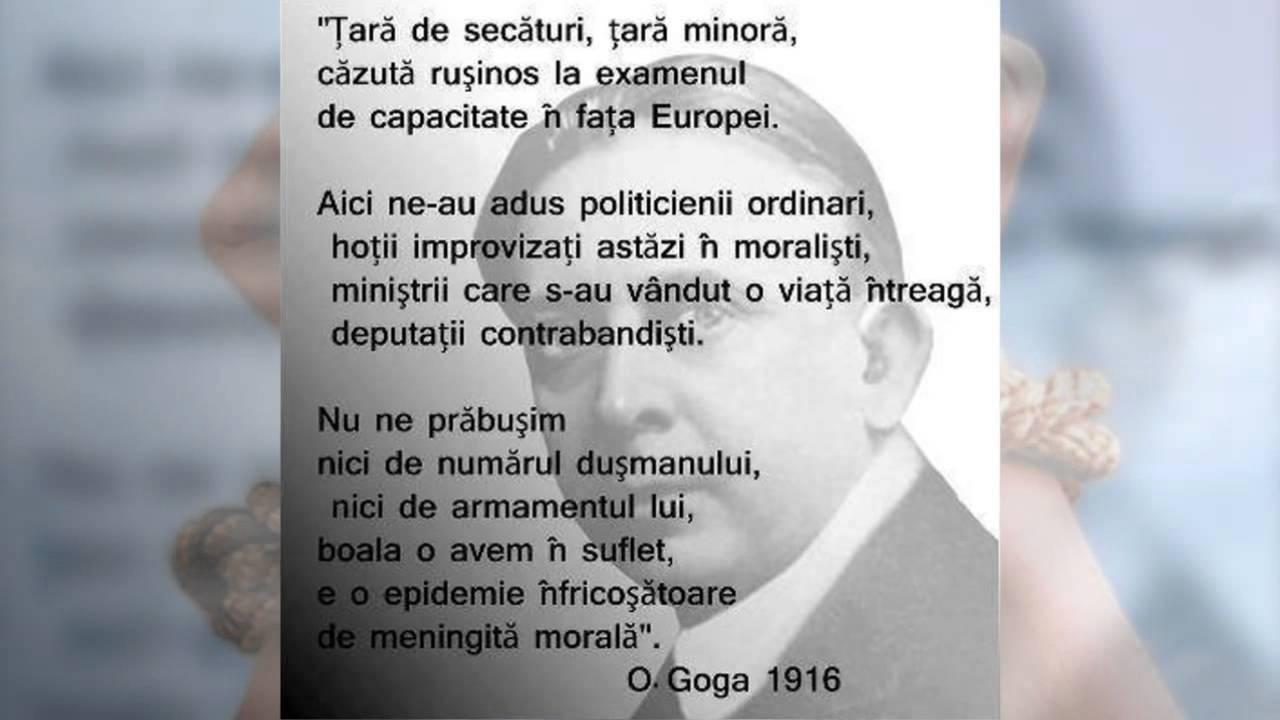 Octavian Goga: Romania, tara de secaturi, tara minora