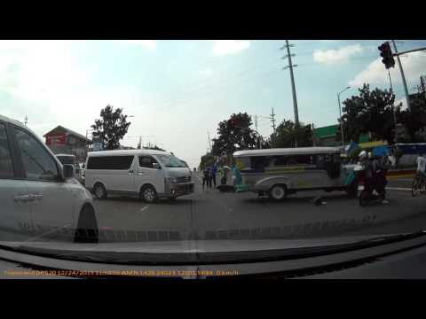 Motorcycle crash accident  in Quezon avenue