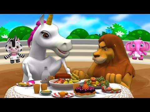 Lion And Unicorn | Song for Kids | Kindergarten Nursery Rhymes for Children by Little Treehouse