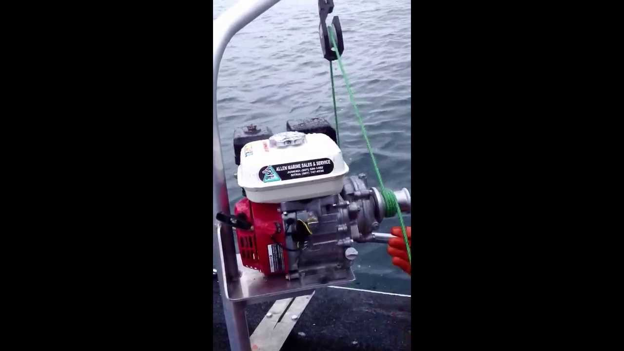 Honda gas pot-puller whitter Alaska - YouTube