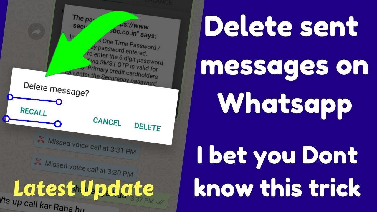 how to delete whatsapp messages from server