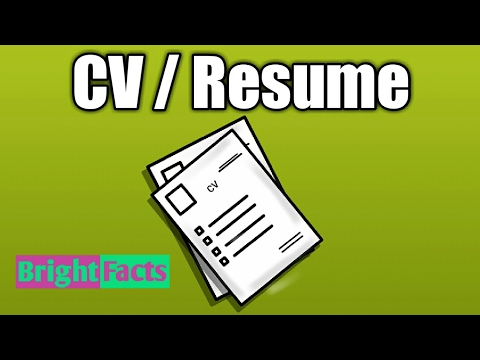 Difference Between Resume And Cv Urdu Hindi Youtube