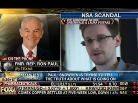 Ron Paul: I'm worried that the government might kill Edward Snowden with a drone