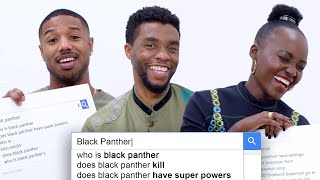 Black Panther Cast Answer the Web's Most Searched Questions | WIRED streaming