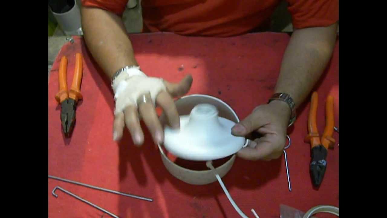 Lustre Artesanal ~ Como fazer o suporte do bocal para o Lustre PVC YouTube