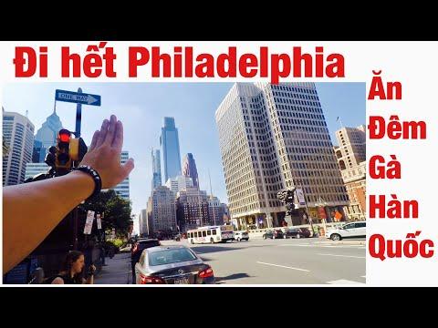 Xuyên nước Mỹ 128 | Cùng Quang đi hết Philadelphia bang Pennsylvania và ăn cơm tối Gà Hàn Quốc.