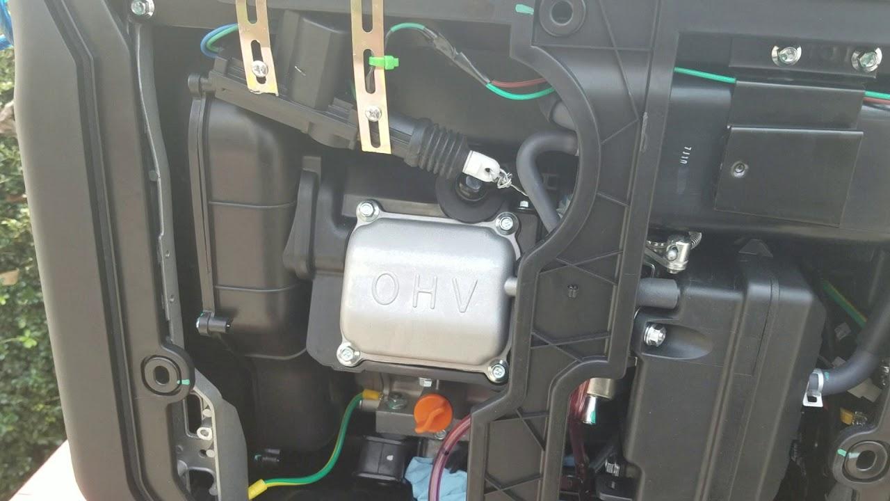 Predator 3500 with automatic choke system set up