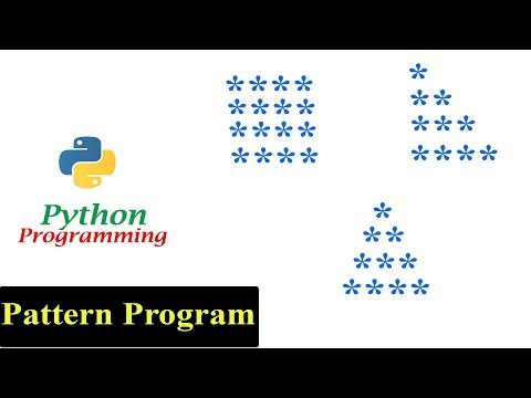 Python Pattern Programs - Printing Stars '*' in Different Shapes | Star Pattern thumbnail