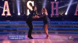 (HD) Sasha Pieterse and Gleb Savchenko Cha-Cha-Cha - Dancing With the Stars Premiere