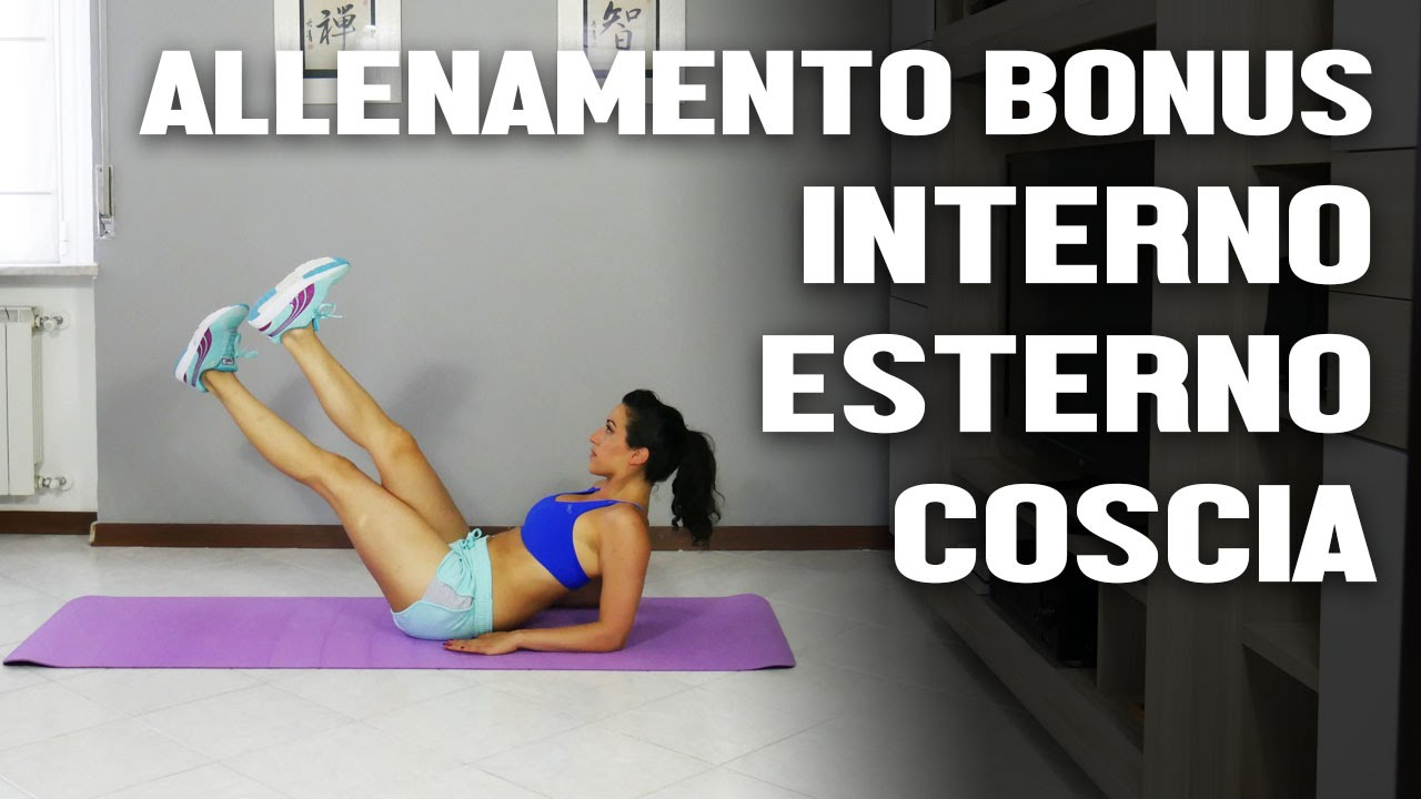 esercizi per dimagrire le gambe interno esterno coscia