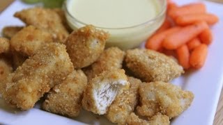 Homemade Chicken Nuggets + Honey Mustard Dipping Sauce Recipe