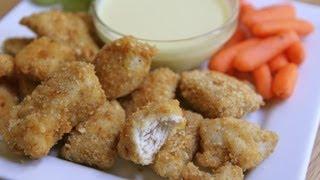 Homemade Chicken Nuggets + Honey Mustard Dipping Sauce Recipe