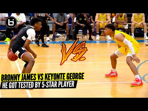 Download Bronny James VS Keyonte George! The Most Anticipated AAU Matchup Of The Summer!?