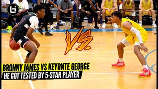 Bronny James VS Keyonte George! The Most Anticipated AAU Matchup Of The Summer!?