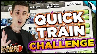Can I Triple With Every Army?!? Quick Train Army Challenge!   Clash of Clans