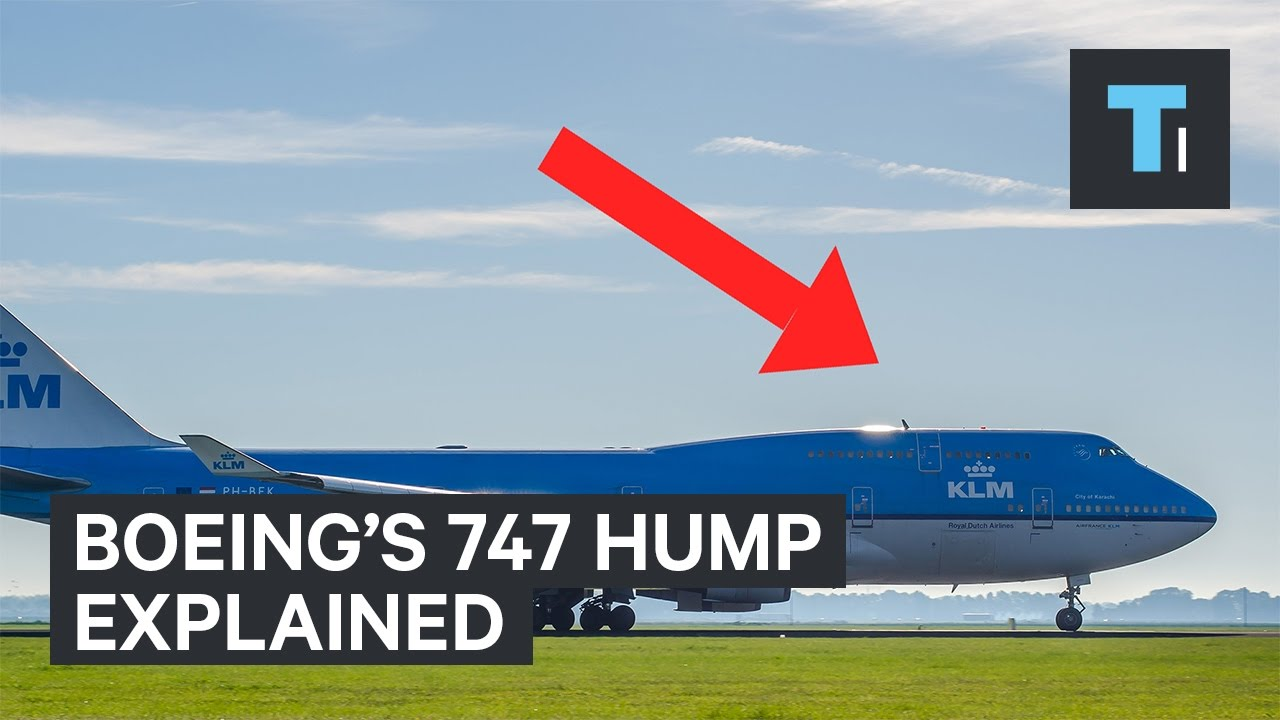Why Boeing 747 Planes Have A Hump In The Front - YouTube