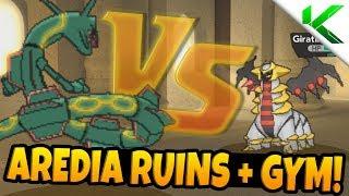 RAYQUAZA VS GIRATINA! Aredia Ruins + Gym! - Pokemon Brick Bronze Randomizer