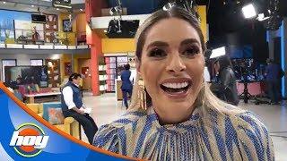 ¡Galilea Montijo se ríe de las críticas sobre la visita de Paris Hilton en HOY! | Detrás de cámaras