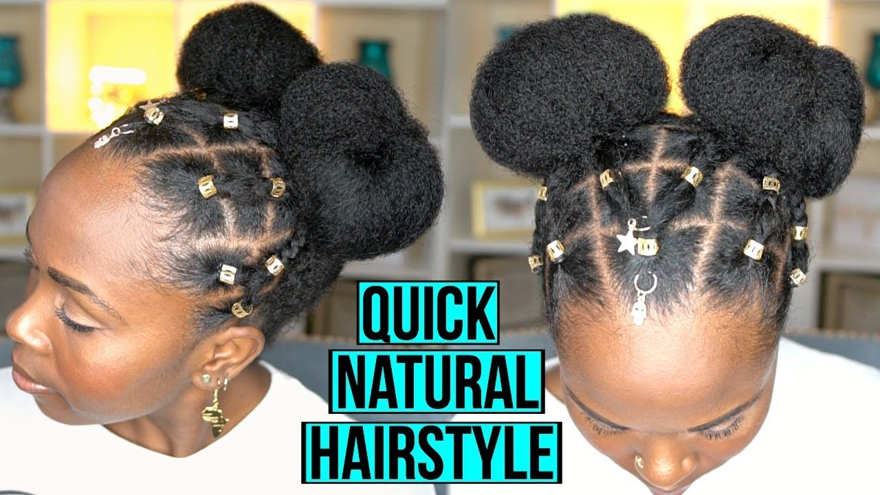 easy protective natural hairstyle for fast hair growth and