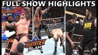 WWE 2K19 SUMMERSLAM 2019 FULL SHOW PREDICTION HIGHLIGHTS - PART 1