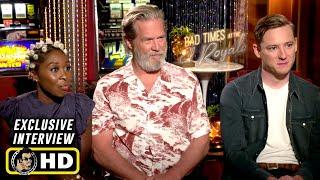 Jeff Bridges, Cynthia Erivo & Lewis Pullman Exclusive Interview - Bad Times at the El Royale (2018)