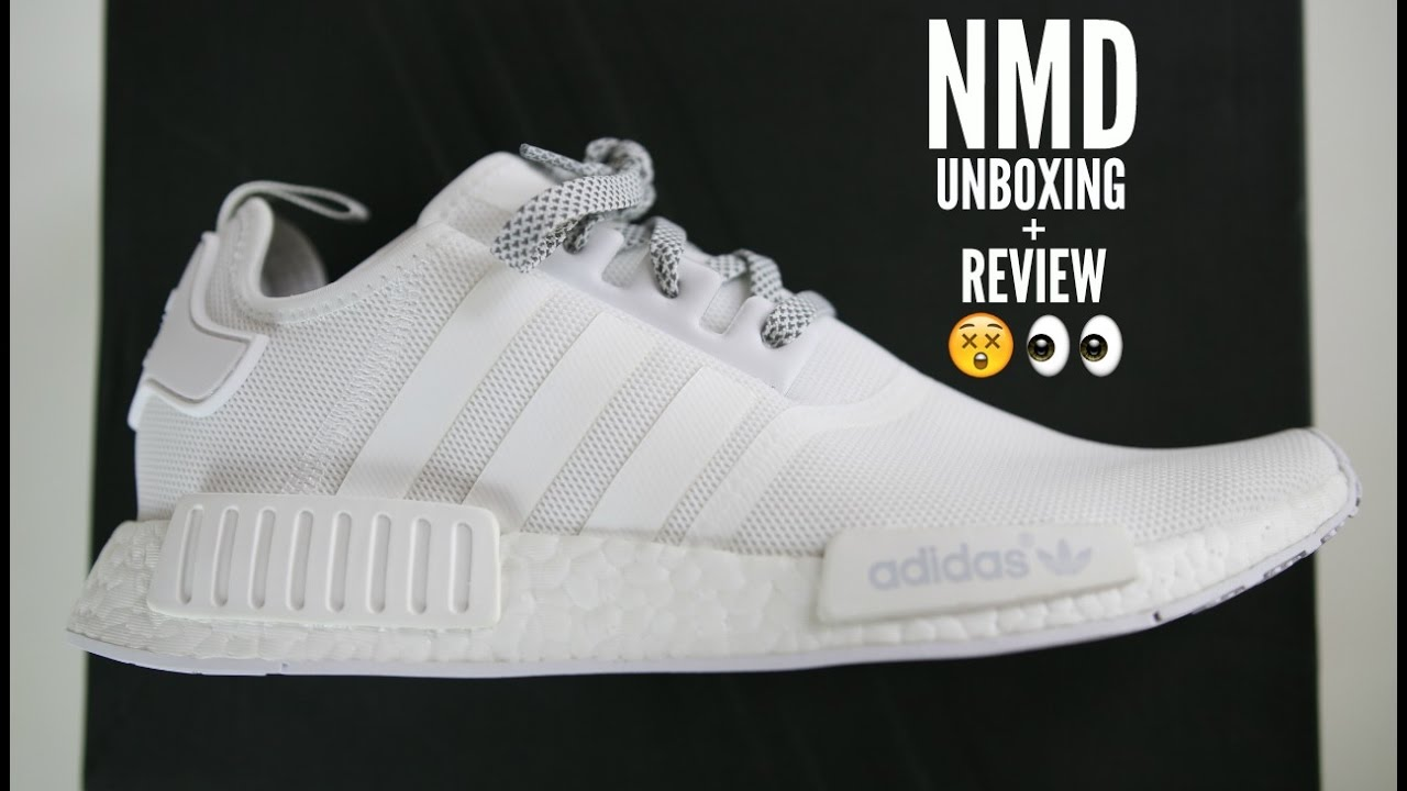 7864f86cba2c Adidas NMD White Unboxing Review + How To Style Mens Fashion 2016 - YouTube