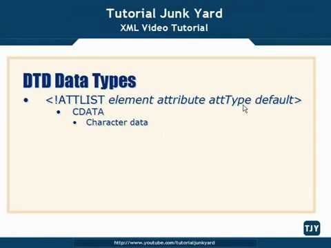 XML Tutorial   29 DTD Schema Data Types