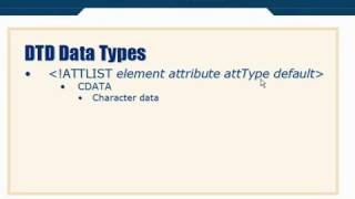 XML Tutorial   29 DTD Schema Data Types