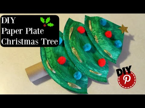 DIY Christmas  Paper Plate Christmas Tree  Simple and Easy Craft