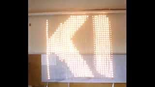 Гибкий светодиодный экран-сетка(IP67 Всепогодный.Гибкий.Прозрачны.Иллюминация стен,домов,сцен,машин и т.д., 2014-07-08T08:56:48.000Z)
