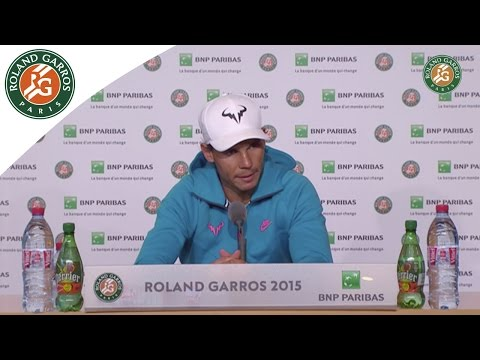 Press conference Rafael Nadal 2015 French Open / Quarterfinals