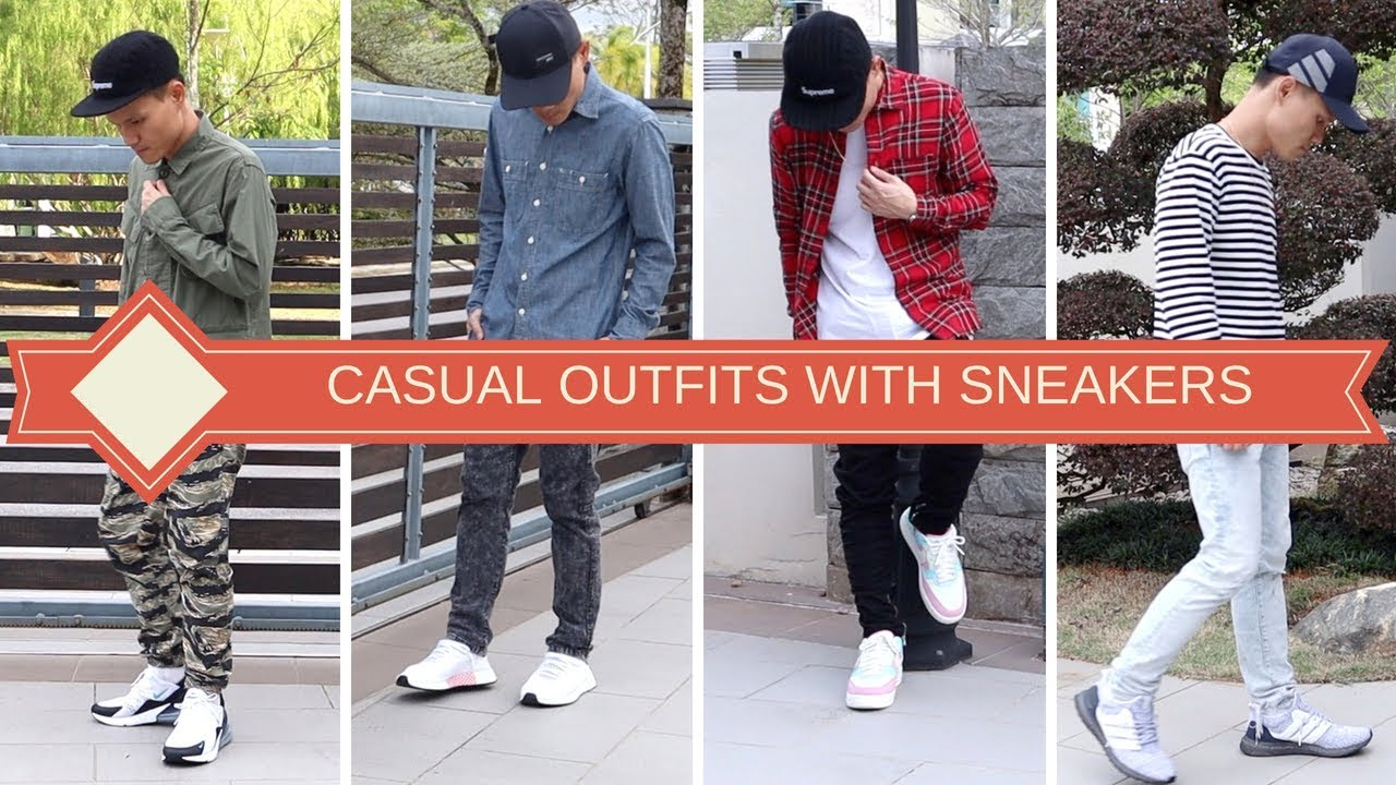 CASUAL OUTFIT IDEAS WITH SNEAKERS | Air Max 270, Ultra Boost 4.0, Air Force 1 Low & Adidas Deerupt