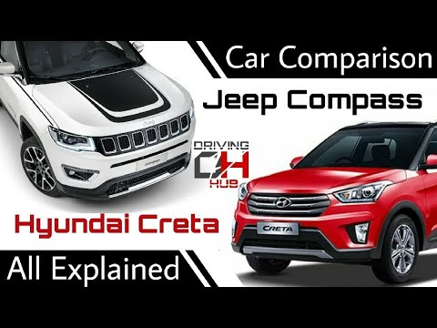 Hyundai Creta V/S Jeep Compass CAR COMPARISON || Variants | Features | Mileage | Pricing Compared |