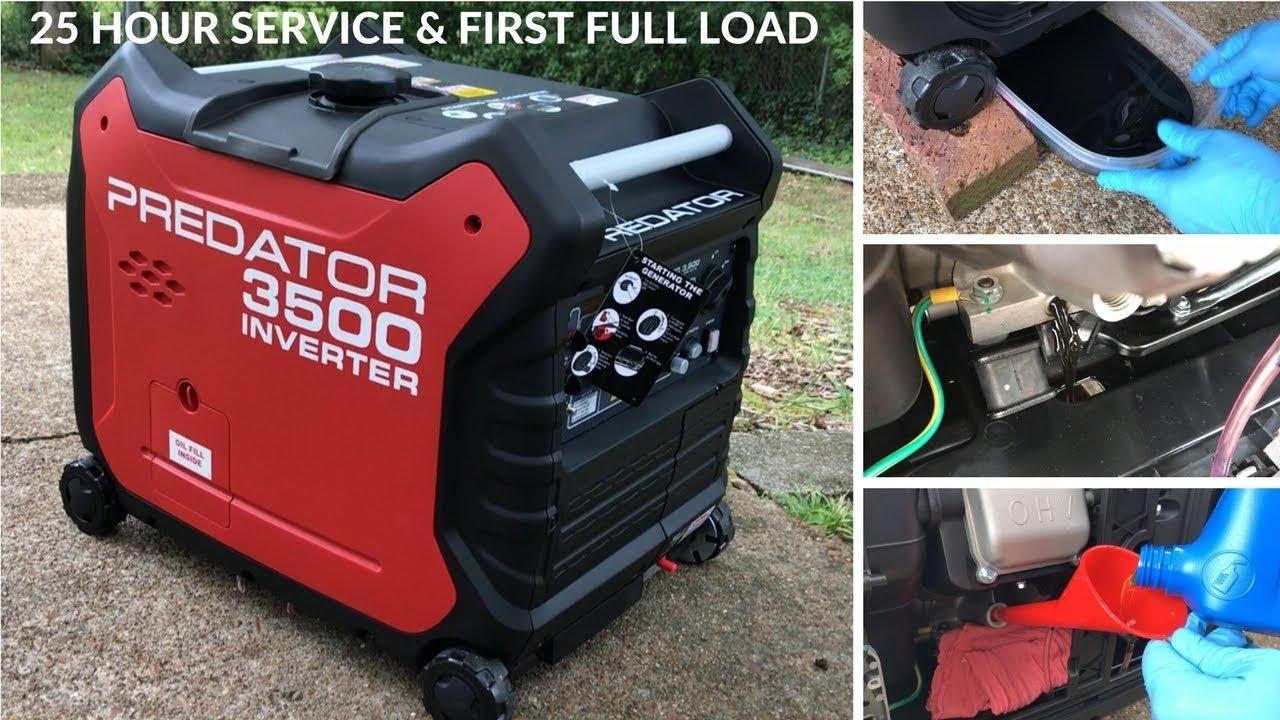 4000 Watt Inverter Generator >> Predator 3500 Generator from Harbor Freight - 25 Hour Oil Change & Service - YouTube