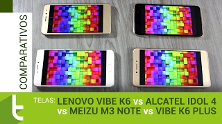 Vibe K6, Idol 4, M3 Note e Vibe K6 Plus | Comparativo de telas do TudoCelular